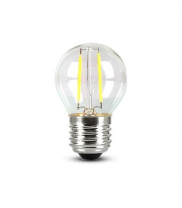 V-Tac 4W LED lampa - Samsung LED chip, G45, Filament, E27