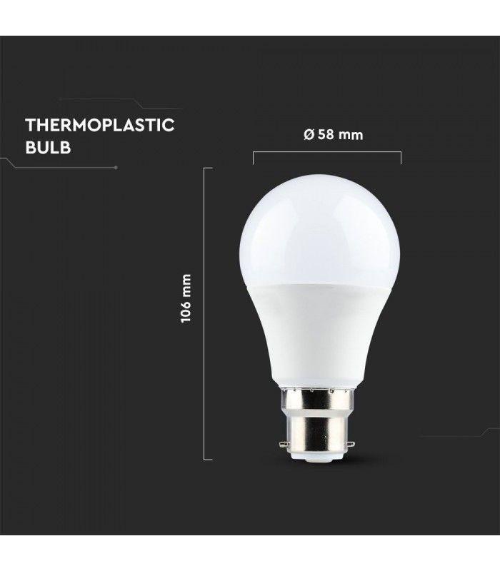 V Tac 9W LED lampa Samsung LED chip, B22 LEDMegaStore.se