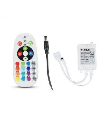 RGB kontroller med fjärrkontroll - memory funktion, infraröd, 12V (72W), 24V (144W)