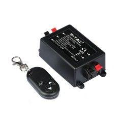 LED strip Trådlöst dimmer med fjärrkontroll - RF trådlös , memory funktion, 12V/24V (96W / 192W)