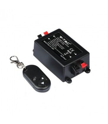Trådlöst dimmer med fjärrkontroll - RF trådlös , memory funktion, 12V/24V (96W / 192W)