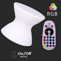 Trädgårdslampor V-Tac RGB LED stol - Uppladdningsbart, med fjärrkontroll, 40x40x36 cm