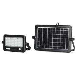 LED strålkastare med sensor V-Tac 10W LED Solcelle strålkastare - Solcelle medfølger, indbyggt batteri, med sensor, utomhusbruk