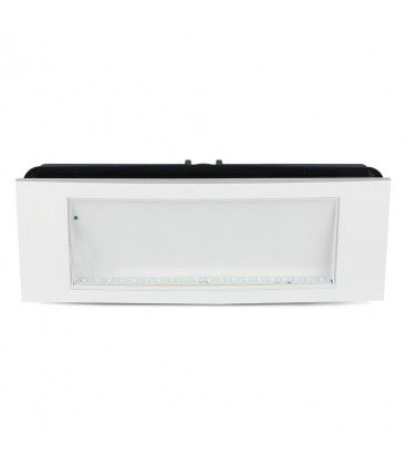 V-Tac 4W LED nödbelysning - För vägg/tak/infälld montering, 110 lumen, inkl. batteri och piktogram