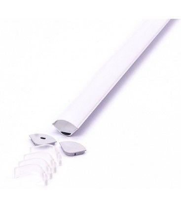 Aluprofil Type 3363 till IP65 och IP68 LED strip - Hörn, 2 meter, inkl. matteret cover och klips