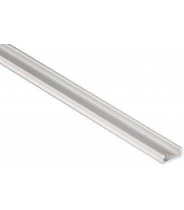 Aluprofil Type D till inomhus IP21 LED strip - Lav, 1 meter, vit, välj cover