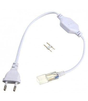 Kontakt till 230V LED strip (Type Q) - Inkl. ändstycke, 230V