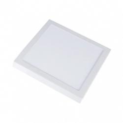 Taklampor V-Tac 12W LED takarmatur - 14 x 14cm, Högde: 2,4cm, vit kant, inkl. ljuskälla