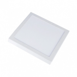 Taklampor V-Tac 12W LED takarmatur - 14 x 14cm, Höjd: 2,4cm, vit kant, inkl. ljuskälla
