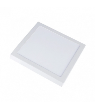V-Tac 18W LED takarmatur - 19 x 19cm, Höjd: 2,4cm, vit kant, inkl. ljuskälla