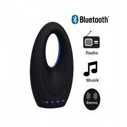 Tilbud V-Tac Design Bluetooth Högttaler - 5W, uppladdningsbart, FM Radio, Aux, SD, USB
