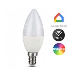 E14 LED V-Tac 5W Smart Home LED lampa - Fungerar med Google Home, Alexa och smartphones, E14