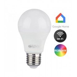 E27 LED V-Tac 11W Smart Home LED lampa - Verk med Google Home, Alexa och smartaphones, E27, A60