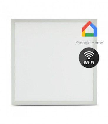 V-Tac 60x60 Smart Home LED panel - 40W, fungerar med Google Home, Alexa och smartphones, vit kant