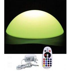 Trädgårdslampor V-Tac RGB LED halvboll - Uppladdningsbart, med fjärrkontroll, Ø50 cm