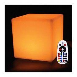 Trädgårdslampor V-Tac RGB LED kvadrat - Uppladdningsbart, med fjärrkontroll, 40x40 cm