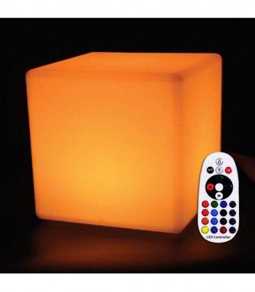 V-Tac RGB LED kvadrat - Uppladdningsbart, med fjärrkontroll, 40x40 cm
