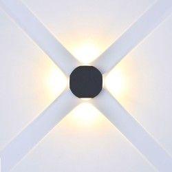 Vägglampor V-Tac 4W LED svart vägglampa - Runda, IP65 utomhusbruk, 230V, inkl. ljuskälla