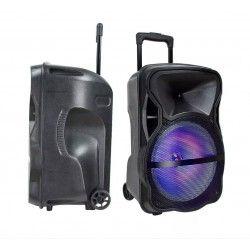 Trådlös Party Högtalare 35W partyhögtaler på hjul - Uppladdningsbart, Bluetooth, RGB, inkl. mikrofon