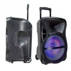 Diverse Partyhögtaler på hjul - 50W, uppladdningsbart, Bluetooth, RGB, inkl. mikrofon