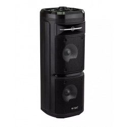 30W partyhögtaler på hjul - Uppladdningsbart, Bluetooth, RGB, inkl. mikrofon