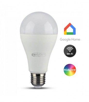 V-Tac 15W Smart Home LED lampa - Verk med Google Home, Alexa och smartaphones, E27
