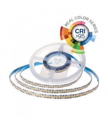 V-Tac 18W/m LED strip RA 95 - Samsung LED chips, 10m, 24V, IP20, 240 LED per. meter