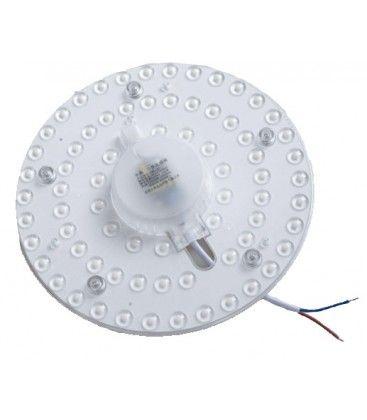 24W LED insats med linser, flicker free - Ø17 cm, ersätta G24, cirkelrör och kompaktrör