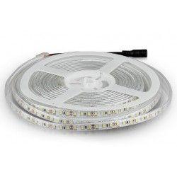 12V V-Tac 7,2W/m stänksäker LED strip - 5m, 120 LED per. meter