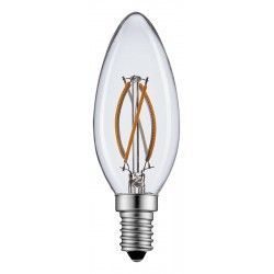 E14 LED 2W LED kronljus - Filament, varmvitt, E14
