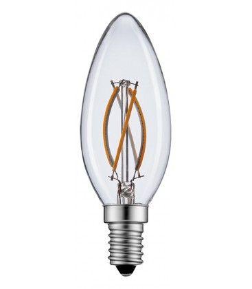 2W LED kronljus - Filament, varmvitt, E14