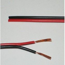 12-24V Kabel röd/svart - 2x0,5mm² , löpmeter, min. 5 meter
