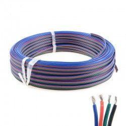 LED strip 12-24V RGB kabel - 4 x 0,5 mm², löpmeter, min. 5 meter