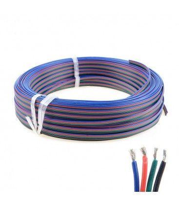 12-24V RGB kabel - 4 x 0,5 mm², löpmeter, min. 5 meter
