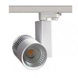 Takspotlights LEDlife vit skena spotlight 30W - Philips COB, Flicker free, RA90, 3-fas