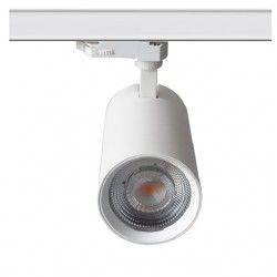 Takspotlights LEDlife vit skena spotlight 30W - Flicker free, Citizen LED, RA90, 3-fas