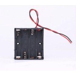 Diverse Batterihållare för 4x AA - 6V