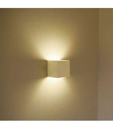 V-Tac 12W LED vit vägglampa - Kvadrat, justerbar spridning, IP65 utomhusbruk, 230V, inkl. ljuskälla