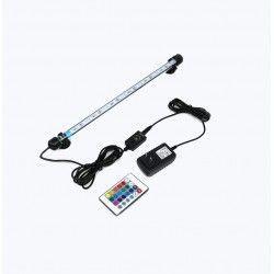 28 cm RGB akvarie armatur - 3W LED, med sugkoppar, IP68