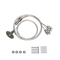 LED paneler Wire uppsättning till LED panel - 200cm + 80cm, justerbar höjd, 4-delad