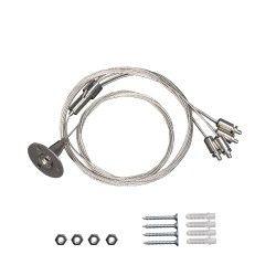 Wireupphäng till LED panel - 200cm + 80cm, justerbar höjd, 4-delad