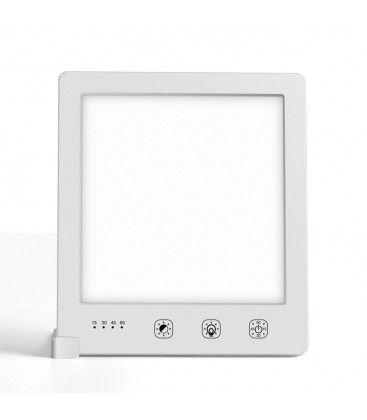 LED lysterapi armatur med timer - 10W, vit, 10.000 LUX, USB