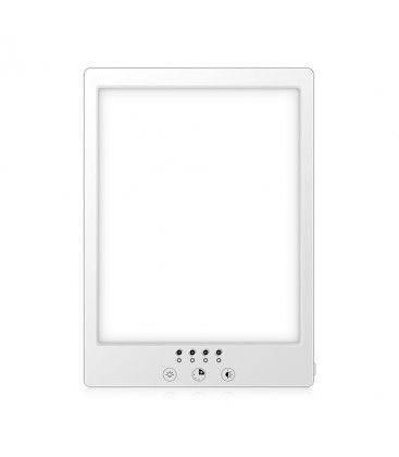 LED lysterapi armatur med timer - 14W, vit, 12.000 LUX