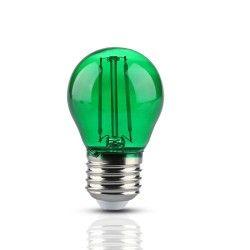 LED Lampor V-Tac 2W Färgad LED liten globlampa - Grön, Filament, E27