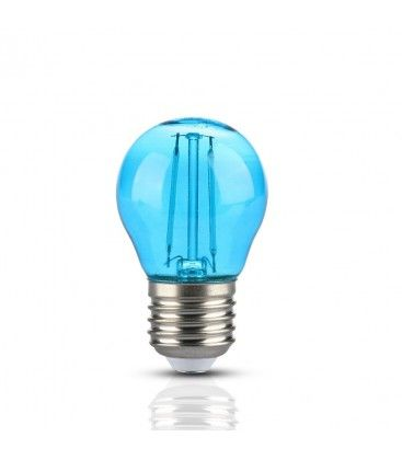 V-Tac 2W Färgad LED liten globlampa - Blå, Filament, E27