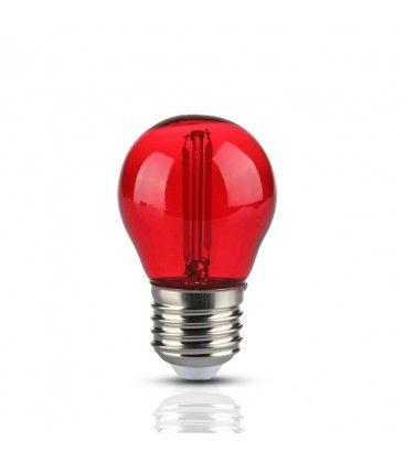 V-Tac 2W Färgad LED liten globlampa - Röd, Filament, E27