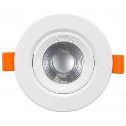 Downlights 7W LED downlight - Hål: Ø7,5 cm, Mål: Ø9 cm, indbyggt driver, 230V
