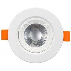 Downlights 7W LED downlight - Hål: Ø7,5 cm, Mål: Ø9 cm, indbyggt driver, 230V