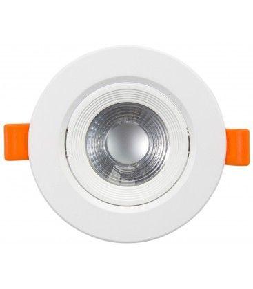7W LED downlight - Hål: Ø7,5 cm, Mål: Ø9 cm, indbyggt driver, 230V
