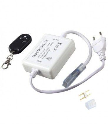 RF trådlös dimmer med fjärrkontroll - Inkl. ändstycke, till 230V (Type Q), minnesfunktion